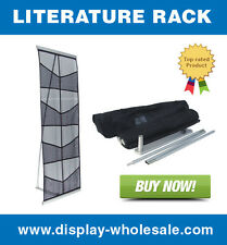 8-Pocket Brochure Holder / Literature Rack -Easy Setup!