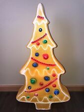 "Vintage 29"" Union Don Featherstone Christmas Gingerbread Tree Lighted Blow Mold"