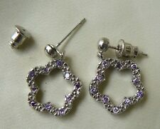 """Dangle Earrings Sparkling Faceted CZ Red, Pink, Lavendar """"buy one get one free"""""""