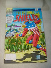 ORIGINAL SHIELD #4 COVER ART COLOR GUIDE PAINTING, AYERS, RAY GUN, NAZI THE HUN