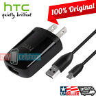 ORIGINAL HTC Home Travel Wall Charger Micro USB Data Cable for HTC ONE M8 Mini