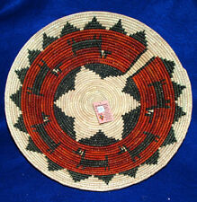"Basket Large Handwoven Pakistan Collectible Decorative New 14.5x3"" #29"