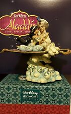 "Jim Shore Disney Aladdin & Jasmine ""Magic Carpet Ride"" Light up and Musical Rare"