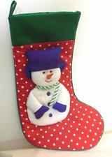 "Snowman Christmas Stocking with ""Carrot"" Nose 16"""
