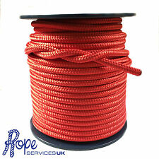 6mm Red Double Braid Polyester,Braid on Braid,Marine Rope,Cruising Line x 100m
