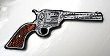 P2 Six Shooter Pistol Gun Cowboy Western Iron on Patch