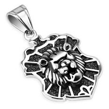Stainless Steel Lion Design Casted Crest Pendant P270