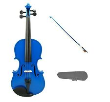 1/16 Size BLUE VIOLIN & BLUE BOW,CASE ~ ACOUSTIC STUDENT KIDS BEGINNER STARTER