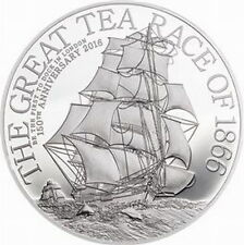 Cook 2016 The Great Tea Race 2 Dollars Silver Coin,Proof