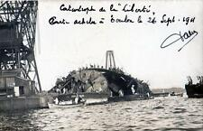 CPA 83 TOULON CARTE PHOTO DE LA CATASTROPHE DU LIBERTE CLICHE N°1  (BELLE CPA