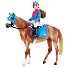 New Breyer Lets Go Racing Riding Collection #1727 Traditional Horse Rider Set
