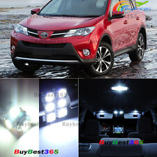10 x Premium Xenon White LED Lights Interior Package Kit for Toyota RAV4 13 - 15