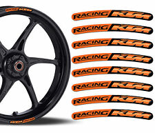 8 KTM Racing Rim Stickers Wheel Stripes Set Car Motorbike Motorcycle Moto GP R48