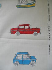90cm Harlequin Go Go Retro cotton fabric remnant - mini vw beetle camper van