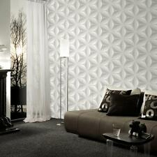 AS CREATION STAR LEAF PATTERN EMBOSSED ABSTRACT 3D EFFECT WALLPAPER 960421