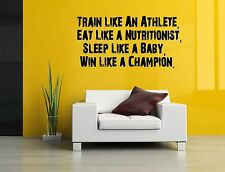 Wall Decor Art Vinyl Sticker Mural Poster Train Like An Athlete Quote Fit SA876