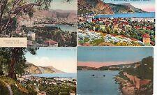 Lot 4 cartes postales anciennes BEAULIEU couleurs
