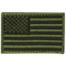 USA American Flag Tactical Morale Military Badge Olive Drab Dark Hook Patch