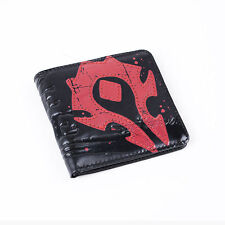 "World of Warcraft Horde Crest Leather Wallet Wow ""For the Horde"" Leather Purse"