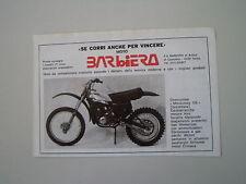 advertising Pubblicità 1977 MOTO BARBIERO MONOCROSS 125