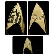 STAR TREK TOS Official Licensed 50th ANNIVERSARY LOGO Magnetic Badge PIN Qmx