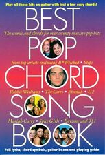Best Pop Chord Songbook Learn to Play Hits Piano Guitar Lyrics Music Book