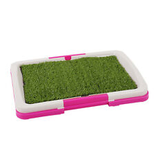 Pet Toilet Urinary Trainer Grass Mat Potty Pad Indoor House Litter Tray