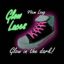 Pink Glow in the Dark Laces 99 cm, stocking filler, children's shoes accessory