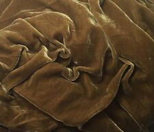 Silk VELVET Fabric ANTIQUE GOLD by the yard 45""
