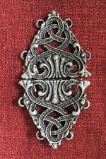 Cloak Clasp Cape Closure Silver Medieval Celtic Viking Knight Norse Mantle Robe