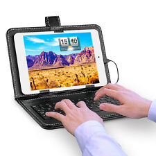 "7.9"" Inch Tablet PC Micro USB Keyboard Mini Keypad PU Leather Stand Case Cover"