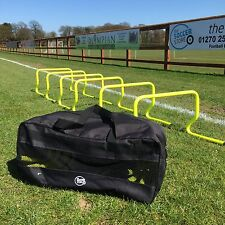 "Set of 6 Agility Hurdles 12"" with Carry Bag - Football Speed & Agility Training"
