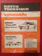 Revue Technique Automobile RENAULT Fuego GTS moteur 1647cm3
