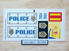 Lego STICKER SHEET - Police Badge, Logo & Map 7034 * NEW Condition