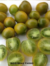 GREEN GRAPE Tomato Seeds! Patio, Containers. 25 Premium USA Seeds. Heirloom.
