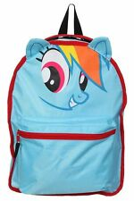 Cute NWT My Little Pony Rainbow Dash Derpy Reversible Backpack Book Bag MLP Ears