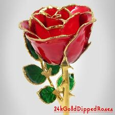 """8"""" 24k Gold Dipped Red Real Rose (Free Valentine's Day Gift Box)"""