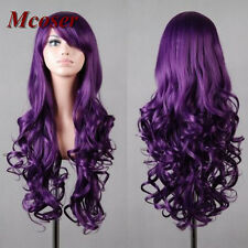 Fashion Lolita Wig Women's 80cm Long Purple Curly Wavy Cosplay Anime Party Wigs