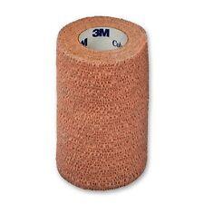 """3M Coban Self Adherent Wrap Bandage Sport Tape 4"""" Roll, Tan, Each. #1584"""