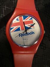 Nice Collectable Reebok Flag Red Plastic Watch Working Rare