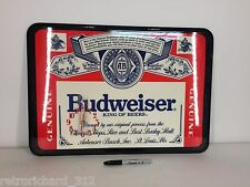 UNUSED! RARE Vintage BUDWEISER CLOCK SIGN Man Cave Bar Retro Beer Anheuser Busch