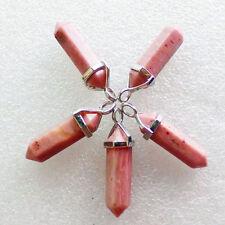 5Pcs Uncommon Wire Wrap Sardonyx Pendulum Pendant Bead M357