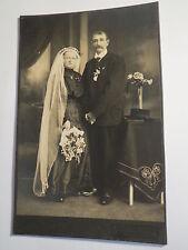 Hengersberg - altes Paar - Hochzeit ? Frau im Kleid mit Schleier & Mann / KAB