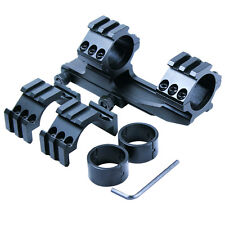 "Tactical 1"" 30mm PEPR Style Cantilever Rifle Scope Mount - Extra Tri-rail Rings"