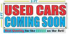 USED CARS COMING SOON Banner Sign NEW Larger Size Best Quality for the $$$