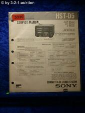 Sony Service Manual HST D5 Component System (#3330)