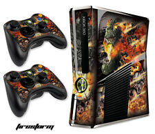 Skin Decal Wrap for Xbox 360 Slim Gaming Console & Controller Xbox360 Slim FIRES