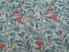 "William MORRIS Curtain Fabric ""Arbutus"" 3.6 METRI 360cm VERDE SCURO 100% COTONE"