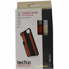 New NIB OEM Tech21 D30 Apple Iphone 5 5S Impact Snap Case Black