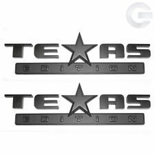 New OEM GMC Sierra and Chevy Silverado Texas Edition Emblems (Pair)- Matte Black